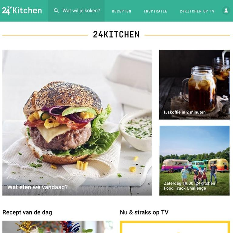 Screenshot of the 24Kitchen website.